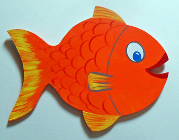 COLORFUL WOOD FISH Cut-Out by George Borum
