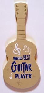 GUITAR WALL HANGER - World's Best Guitar Player - by George Borum