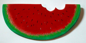 WATERMELON SLICE - Wood Cutout by George Borum