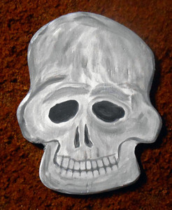 SKULL #4 - Wood Cutout by George Borum
