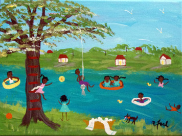 SWIMMING in the RIVER by Paulette Ford