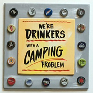 BEER  DRINKERS - CAMPERS PARTY SIGNS by George Borum