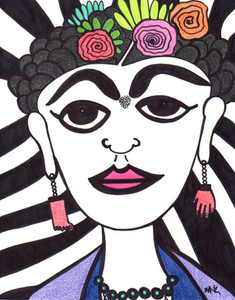OTRA FRIDA PORTRAIT #297 by Nathania Garcia