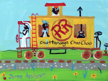 Chattanooga Choo Choo Train - Caboose by Jonne Applseed