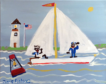 SAILORS PAINTING by Jonne Applseed