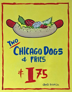 2 CHICAGO DOGS & FRIES  by Otto Schneider