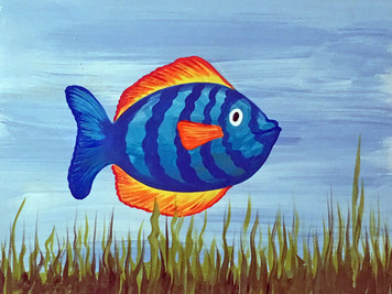 TROPICAL FISH PAINTING    by George Borum