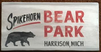 SPIKEHORN BEAR PARK SIGN by George Borum