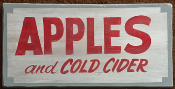 APPLES & Cider SIGN by George Borum