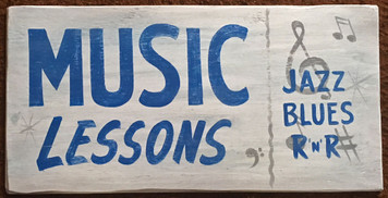 MUSIC LESSIONS Old Time Sign by George Borum