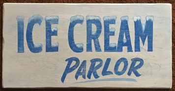 ICE CREAM PARLOR SIGN by Grorge Borum