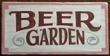 BEER GARDEN SIGN by George Borum