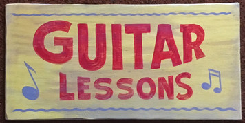 GUITAR LESSONS SIGN by George Borum