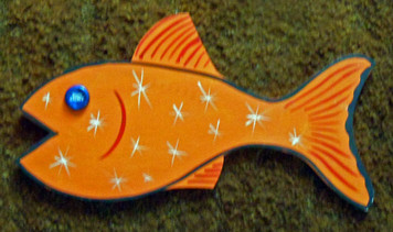 ORANGE FISH cut-out by George Borum