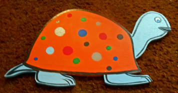 TURTLE - Wood cut-out w/ Polka Dots by George Borum