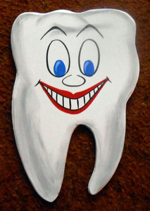 HAPPY TOOTH - Wood Cut-Out by George Borum