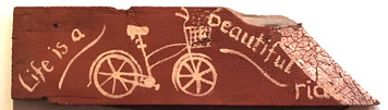 LIFE is a BEAUTIFUL RIDE - Bicycle painting  by Amish artist