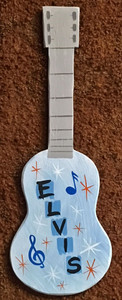 ELVIS GUITAR Wall Hanger by George Borum