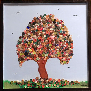 BUTTON TREE WALL HANGER by Amish Girl - Tillie