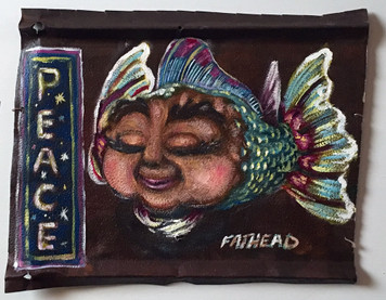 PEACE - Fantasy Fish Painting by Fathead