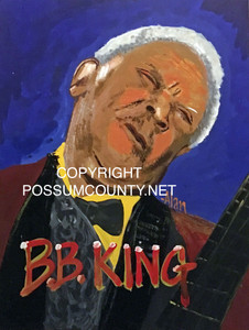 B B KING PAINTING by ALAN the Portrait Guy