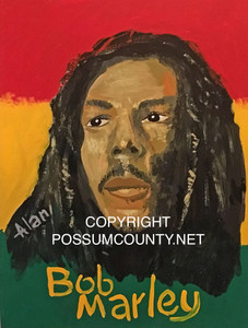 BOB MARLEY PAINTING by ALAN the Portrait Guy
