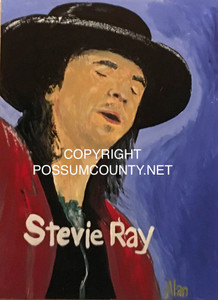 STEVIE RAY VAUGHAN PAINTING by ALAN the Portrait Guy