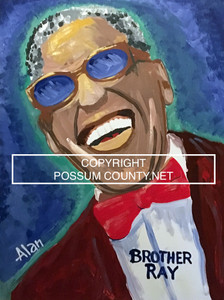 BROTHER RAY CHARLES PAINTING by ALAN the Portrait Guy