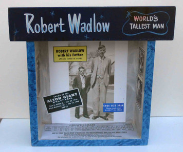 Robert Wadlow (world's tallest man) Shadow Box by George Borum