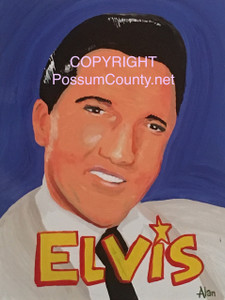 ELVIS PAINTING by ALAN the Portrait Guy