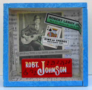 Robert Johnson Tribute Shadow Box by George Borum