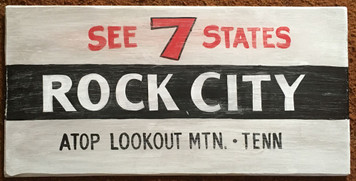 ROCK CITY - Tennessee - Old Time Sign by George Borum