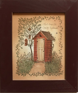 OUTHOUSE PRINT #1 - FRAMED UNDER GLASS