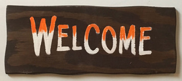 RUSTIC WELCOME SIGN by George Borum