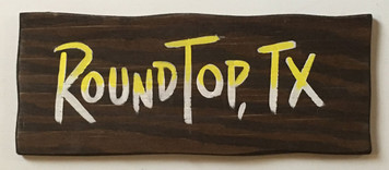 RUSTIC ROUND TOP, TX SIGN by George Borum