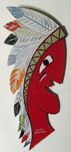 INDIAN CHIEF SOARD - Wood Cutout