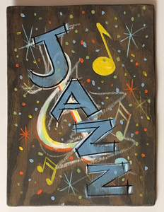 "JAZZ - MUSIC PLAQUE - 12"" x 16"""