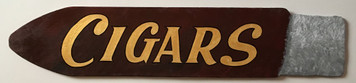 Old TIME CIGAR STORE SIGN - Wood Cut to Shape