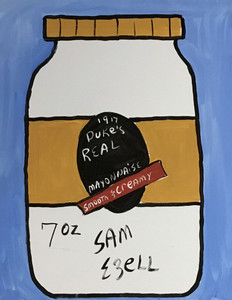 DUKE'S MAYONNAISE on CANVAS (3)  by Sam Ezell