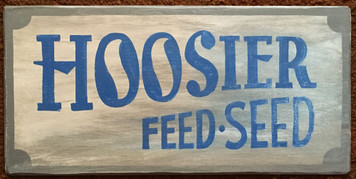 HOOSIER FEED & SEED - Old Time Sign