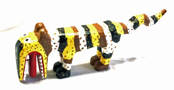 COLORFUL TIGER CARVING by Minnie Adkins