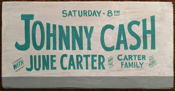 JOHNNY CASH - CONCERT POSTER