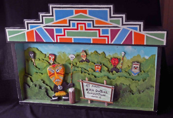 Witch Doctor's Convention Shadow Box by George Borum