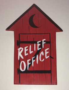 RED OUTHOUSE - RELIEF OFFICE