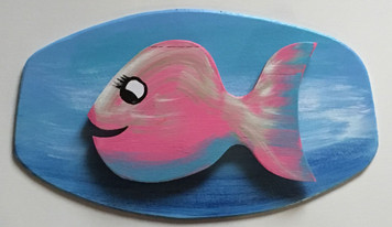 FLIRTY FISH  #8 - Cut-out - Mounted - by Steve Knight