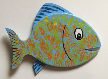 HAPPY FISH #17 by Steve Knight