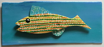MOUNTED - STRIPPED - POLKA DOTTED FISH by Steve Knight