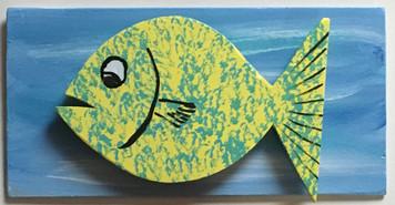 FISH #6 - MOUNTED on BACKBOARD by Steve Knight