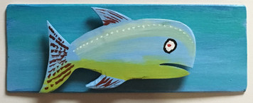 ANOTHER FISH Cut-out Mounted on a Backboard # 14
