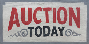 AUCTION TODAY Sign